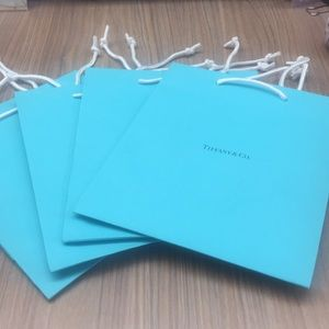 Set of 4! Authentic Tiffany & Co. Gift Bags